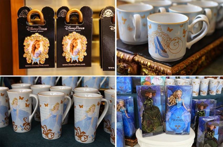 Produtos da Cinderela vendidos na Disney em Orlando