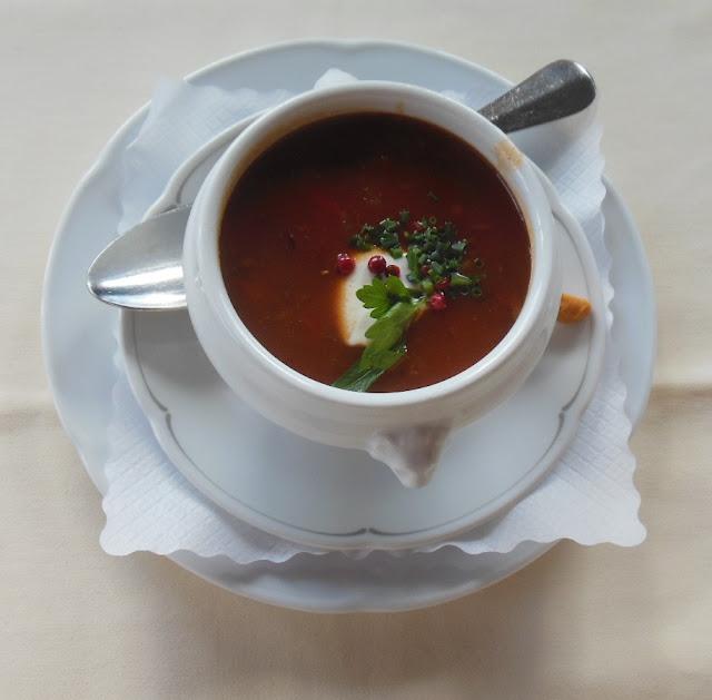 Gasthof zur Waldbahn, Zwiesel, pepper soup