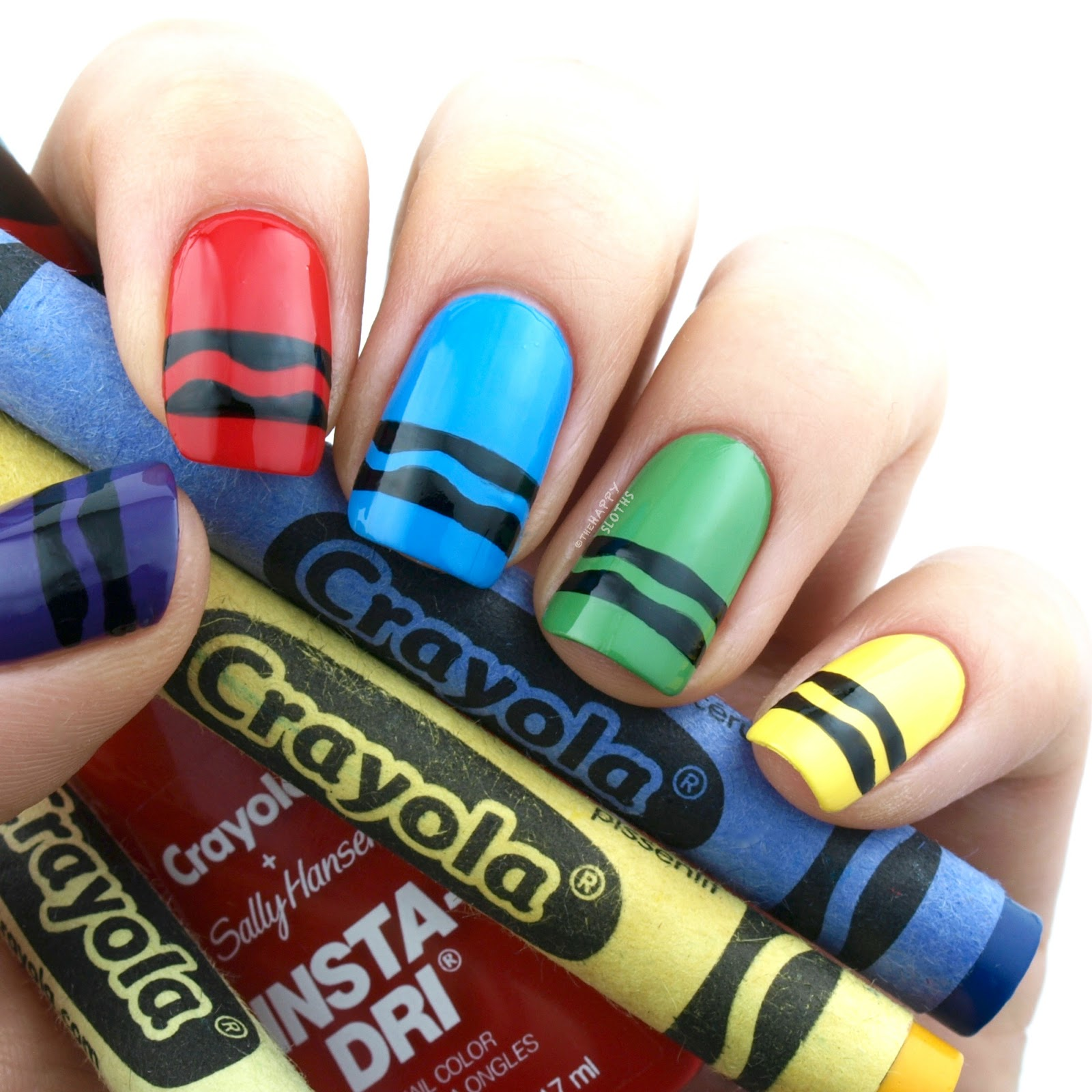 Sally Hansen Crayola Insta Dri Collection Review And Swatches