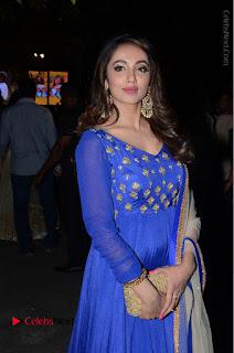 Telugu Actress Tejaswi Madivada Pos in Blue Long Dress at Nanna Nenu Na Boyfriends Audio Launch  0096.JPG