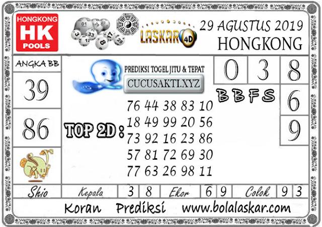 Prediksi Togel HONGKONG LASKAR4D 29 AGUSTUS 2019