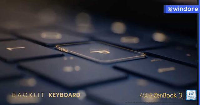 Backlit Keyboard Asus Zenbook 3 UX390 Ergonomis
