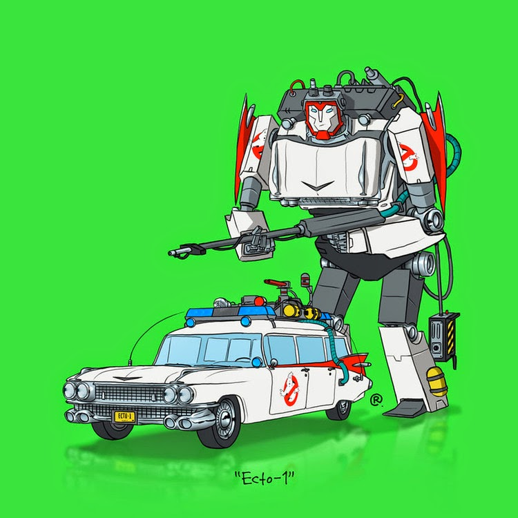Ghostbusters Transformers Ecto-1 Rawlsy DeviantArt