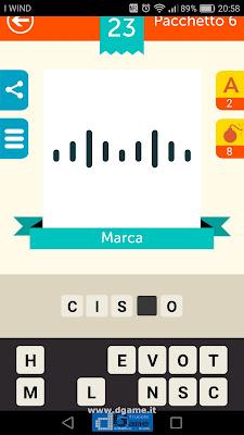 Iconica Italia Pop Logo Quiz soluzione pacchetto 6 livelli 23-100
