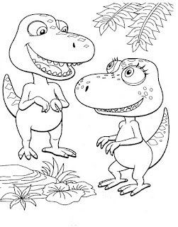 Cute Of Baby Tyrannosaurus Coloring Pages