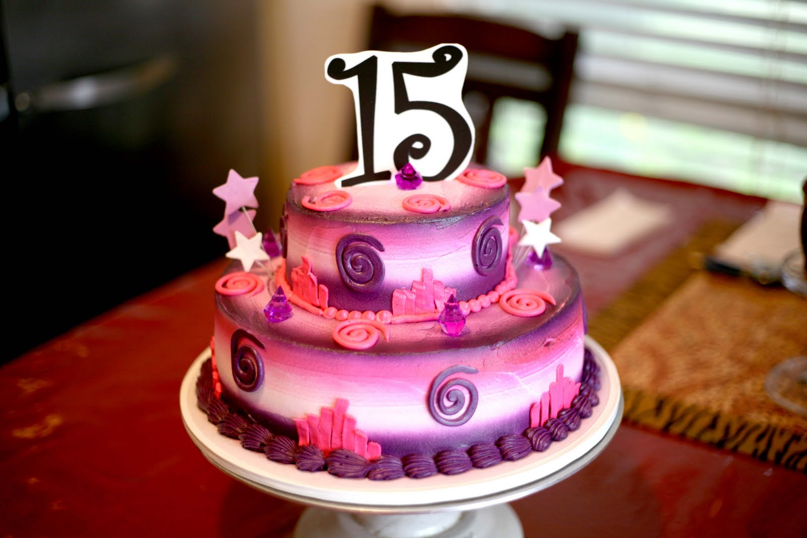 SWEET 15 CAKE 15TH BDAY