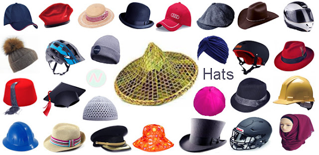 hats, hats names, name of hats
