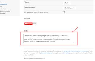 Cara terbaru membuat tombol subscribe di blog