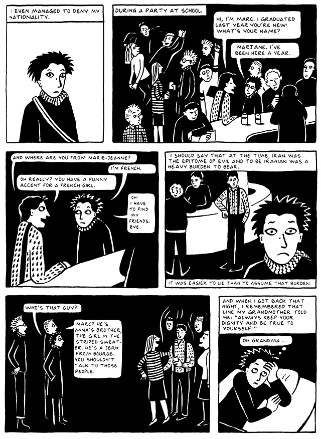 Read Chapter 5 - The Vegetable, page 41, from Marjane Satrapi's Persepolis 2 - The Story of a Return
