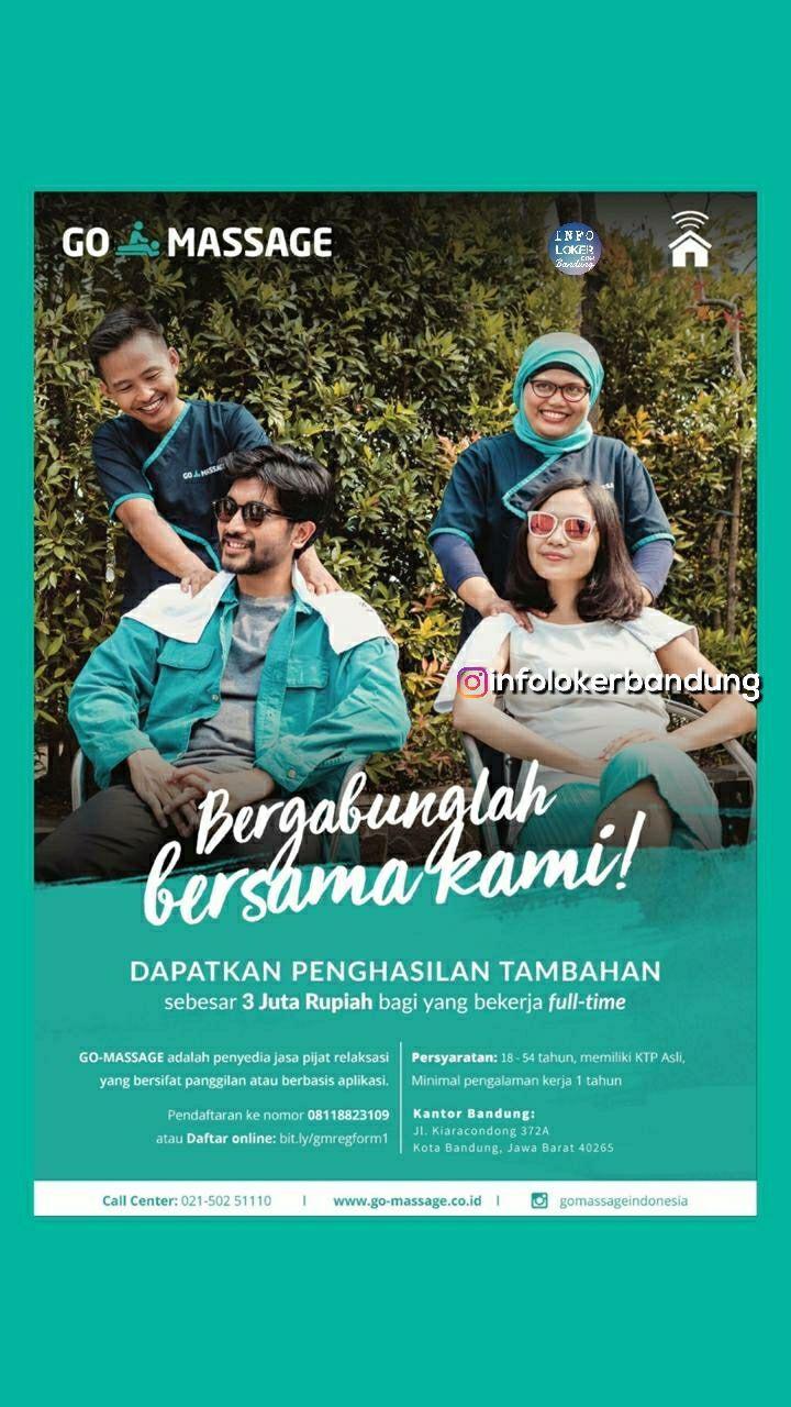 Lowongan Kerja Talent Go-Massage Bandung Oktober 2018