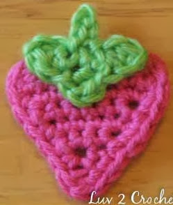 http://www.luv2crochet.com/strawberryapplique.pdf