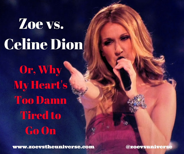 Schlocky love songs by Celine Dion should be parodied
