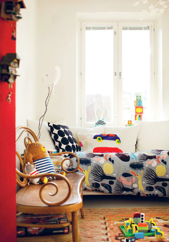kids room with marimekko products