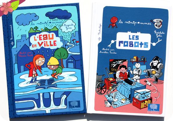 L'eau en ville et les robots - minipommes - éditions Le Pommier