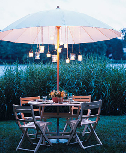 7 Diy Outdoor Lighting Ideas To Illuminate Your Summer: Sheek Shindigs: Light Up Your Outdoor Party