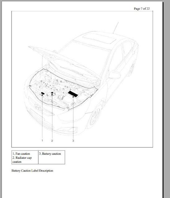 Free Automotive Manuals: HYUNDAI ACCENT RB WORKSHOP MANUAL