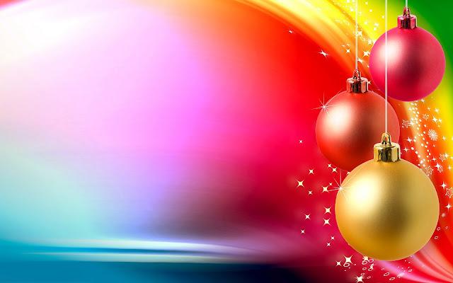 Mooie gekleurde kerst achtergrond met kerstballen