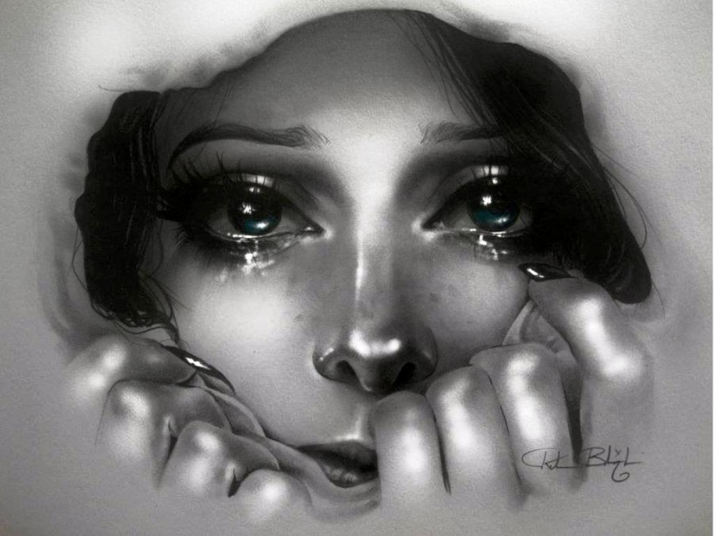 Menangis Wallpaper Gambar Orang Sedih