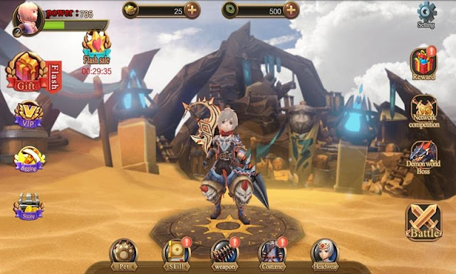 Download Game Demon Hunter APK + MOD APK (Unlimited Uang) RPG Game OFFLINE