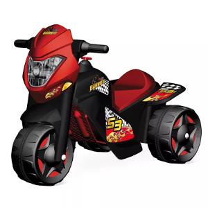 Moto Elétrica 6V Motoban Preto e Vermelho Bandeirante