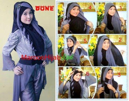 Tutorial Hijab Segi Empat Kelabang Dua Hijab