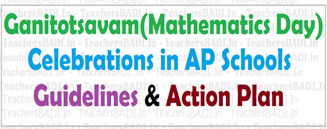 Ganitotsavam,Mathematics Day,Celebrations in AP Schools