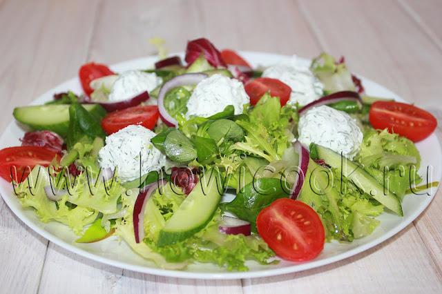 рецепт салата с шариками из феты с пошаговыми фото