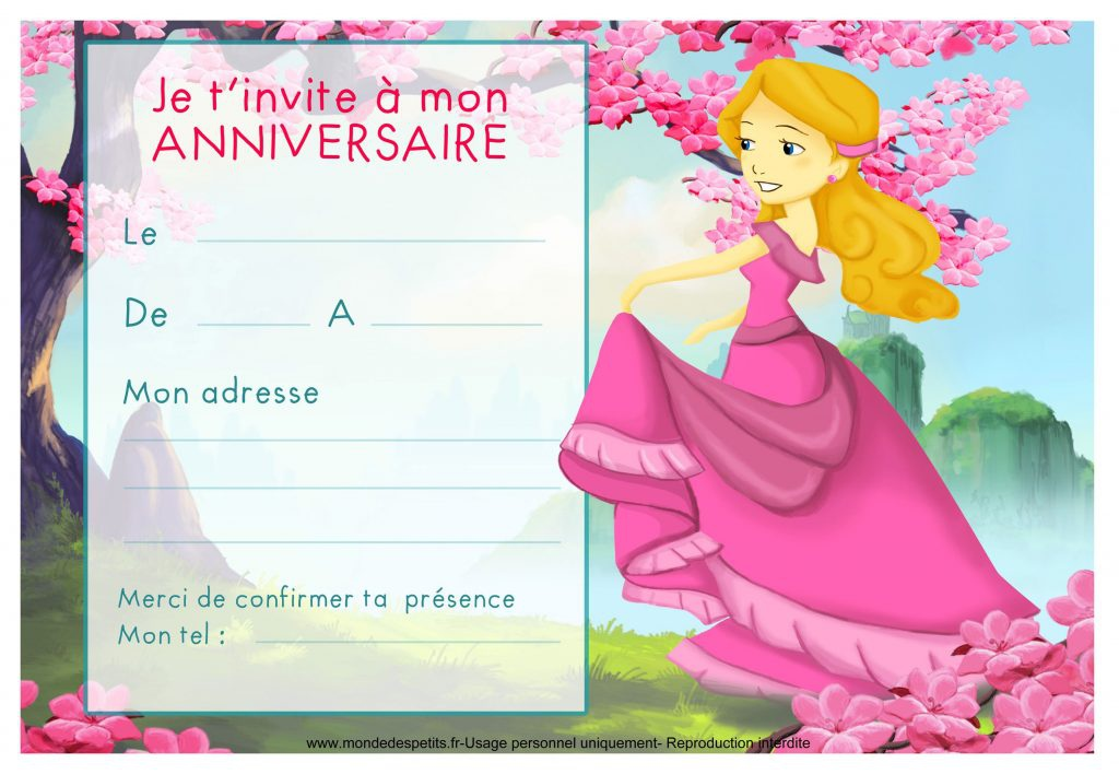 image invitation anniversaire