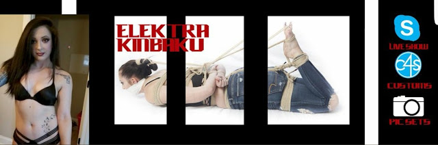 Elektra Kinbaku Logo and Girl in Hogtie