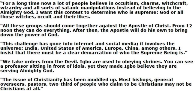 Apostle Chukwusom Okoli
