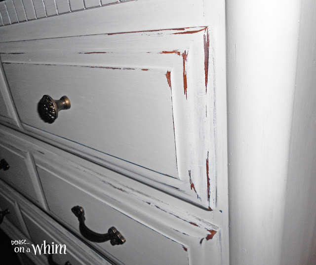 Classic White Dresser Makeover with Natural Distressing| Denise on a Whim