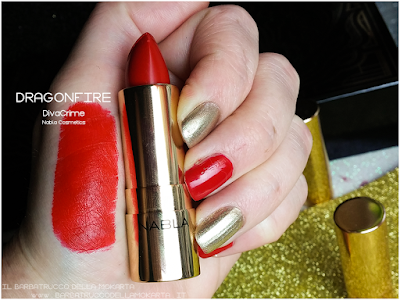DRAGONFIRE SWATCHES  diva crime goldust collection Nabla cosmetics