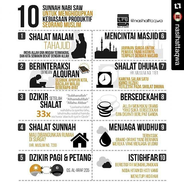 10 Sunnah Nabi SAW untuk menghidupkan kebiasaan produktif (rienquilt.blogspot.com)