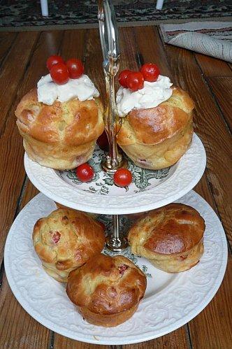 Cupcakes aux tomates cerises et à la Vache qui rit
