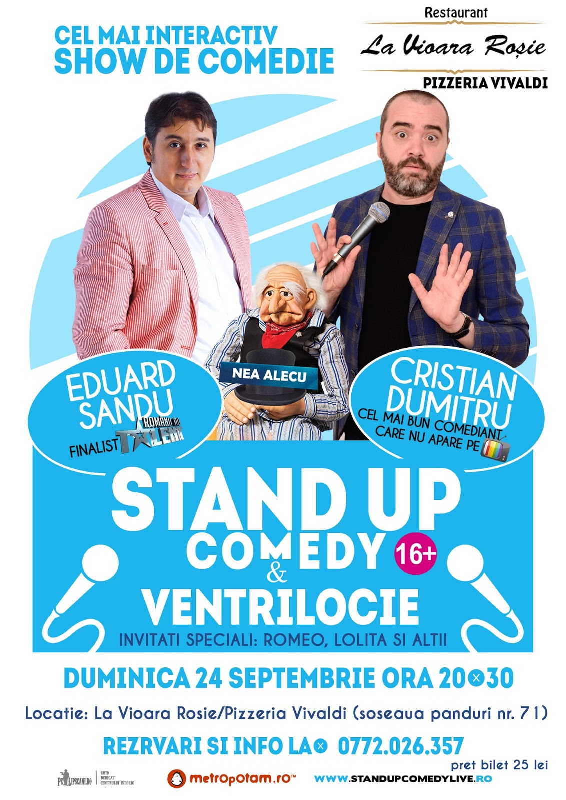 Stand-Up Comedy Bucuresti Duminica 24 Septembrie