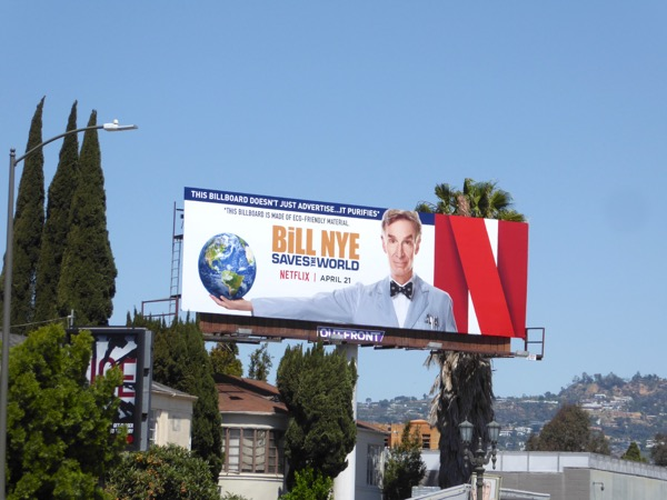 Bill Nye Saves the World TV billboard