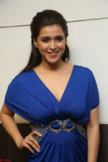 Mannara Chopra in Short Blue Dress at Rogue Movie Teaser Launch 1st March 2017 117.JPG