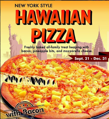 S&R Hawaiian Pizza with bacon