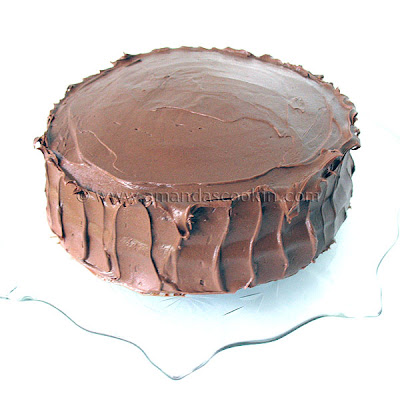 A photo of a nigella\'s chocolate fudge cake.