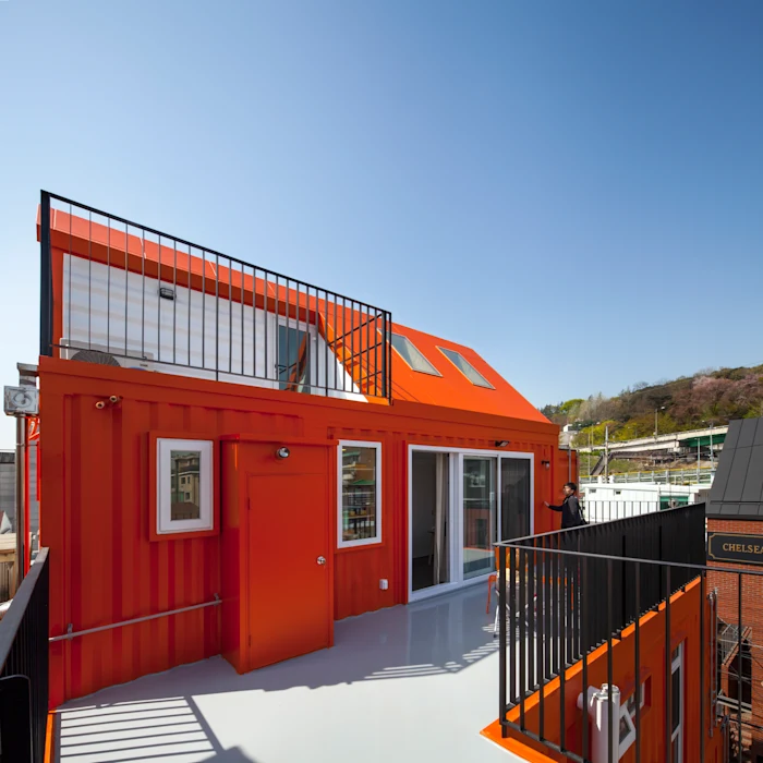 Shipping Container 4 Story House - Office, Cafe and Hotel in Seoul, South Korea 46