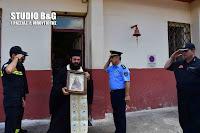 Με τιμές η υποδοχή της Τιμίας Εσθήτας Της Παναγίας στην Πυροσβεστική Ναυπλίου (βίντεο)