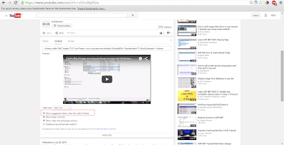 Youtube: autoplay and disable related videos