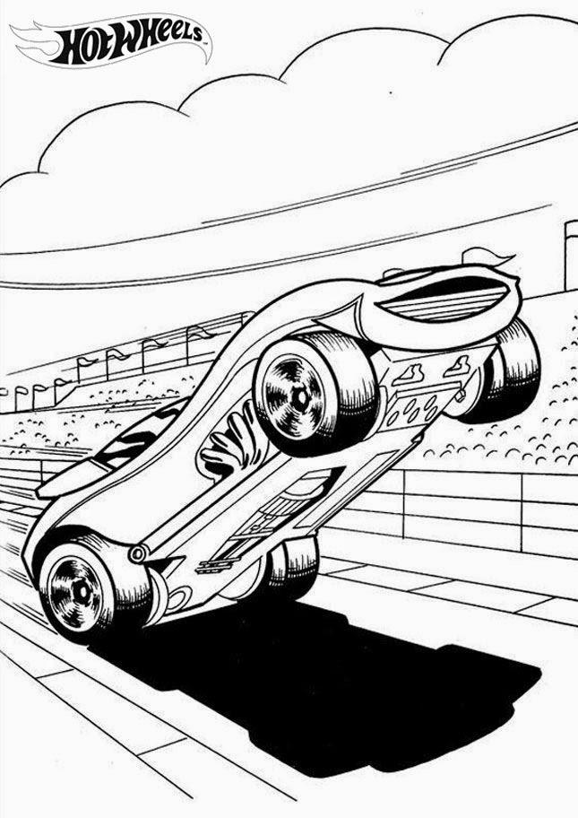 Hot Wheels Racing League Hot Wheels Coloring Pages Set 1