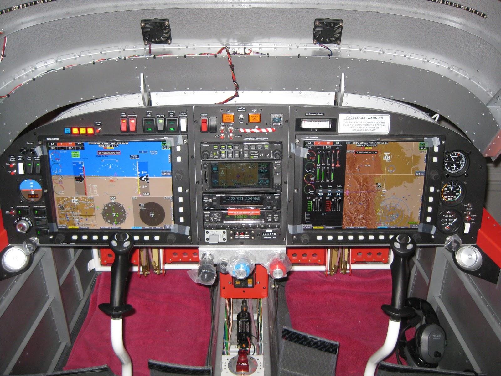 E's Van's RV-14A: Avionics/Panel: Panel design