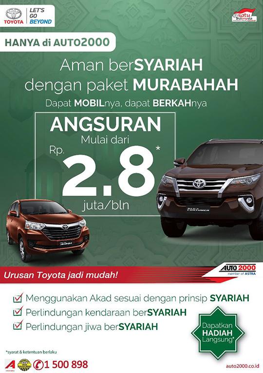 Toyota Serang Kredit Syari'ah