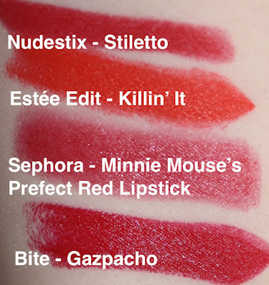 sephora red lipstick swatches