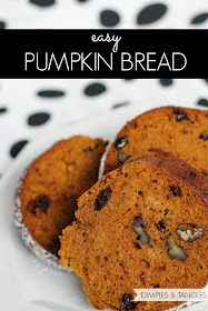 Dimples And Tangles Easy Yummy Pumpkin Bread