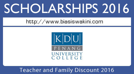 Teacher and Family Discount 2016
