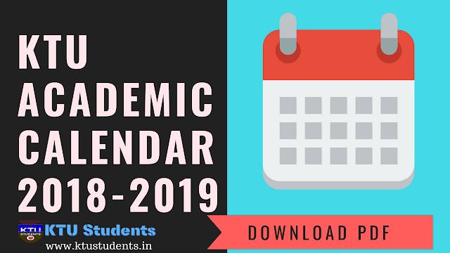 Academic Calendar 2018-2019 | Academic Year 2K18-19