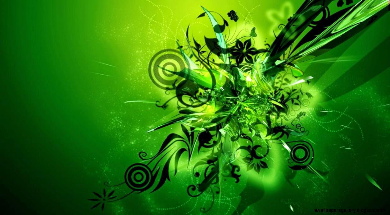 description green abstract hd - photo #31